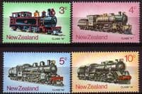 New Zealand 1973 SG1003 6 Steam Locomotives Set Fine Mint