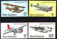 New Zealand 1974 History of Airmail Transport Set Fine Mint