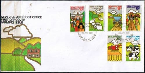 New Zealand 1978 Farming Set on First Day of Issue Cover