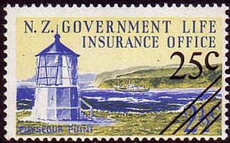 New Zealand 1978 Lighthouse Surcharged Fine Mint
