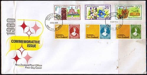 New Zealand 1980 Anniversaries and Events Set on First Day of Issue Cover