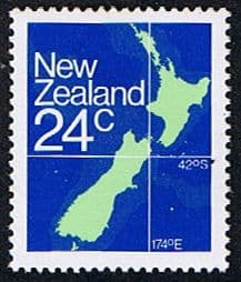 New Zealand 1982 Map Fine Mint
