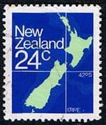 New Zealand 1982 Map Fine Used
