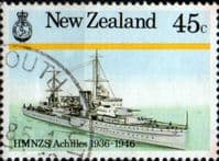 New Zealand 1985 Naval History SG 1376 Fine Used