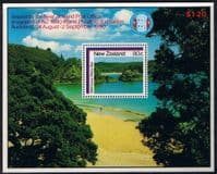 New Zealand 1986 Coastal Scennery Miniature Sheet Fine Mint