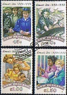 New Zealand 1993 Votes for Women Set Fine Used