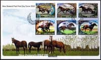 New Zealand 2002 Chinese New Year of the Horse  Set on First Day of Issue Cover
