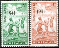 New Zealand Health 1941 Beachball Set Fine Mint