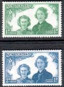 New Zealand Health 1944 Princesses Set Fine Mint