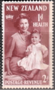 New Zealand Health 1950 Queen and Prince SG 702 Fine Mint
