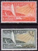 New Zealand Health 1951 Yachts Set Fine Mint