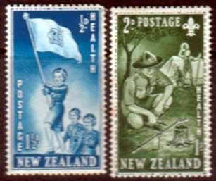 New Zealand Health 1953 Scouts and Guides Set Fine Mint
