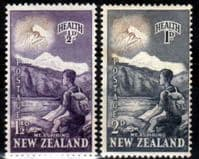 New Zealand Health 1954 Young Climber Set Fine Mint