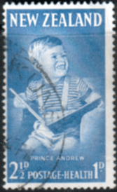 New Zealand Health 1963 Prince Andrew SG 815b Fine Used (1)