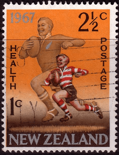 New Zealand Health 1967 Rugby SG  867 Fine Used