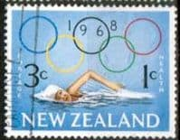 New Zealand Health 1968 Olympic SG 888 Fine Used