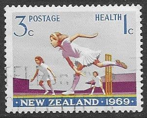 New Zealand Health 1969 Cricket SG 900 Fine Used