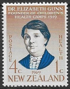 New Zealand Health 1969 Dr. Elizabeth Gunn SG 901 Fine Mint