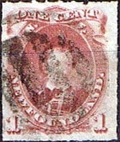Newfoundland 1876 SG 40 King Edward as Prince of Wales  Rouletted Good Used