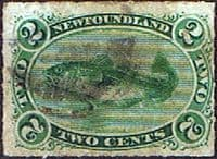 Newfoundland 1876 SG 41 Atlantic Cod Rouletted Good Used