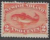 Newfoundland 1887 SG 51 Atlantic Cod Fine Mint