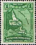 Newfoundland 1928 SG 164 Map Fine Mint