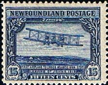 Postage Stamps Newfoundland 1928 SG 175 Vickers Vimy Aircraft Fine Mint Scott 156