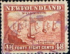 Newfoundland 1941 SG 289 Ships Leaving For the Bank Fine Used