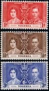 Nigeria 1937 King George VI Coronation Set Fine Mint