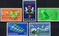 Nigeria 1961 First Anniversary of Independence Set Fine Mint