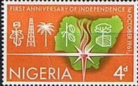 Nigeria 1961 First Anniversary of Independence SG 107 Fine Mint