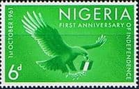 Nigeria 1961 First Anniversary of Independence SG 108 Fine Mint
