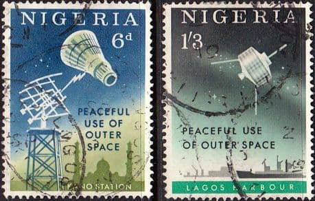 Nigeria 1963 Peaceful Use of Outer Space Set Fine Used