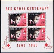 Nigeria 1963 Red Cross Centenary Miniature Sheet Fine Mint