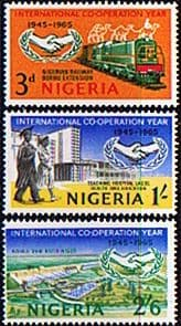 Stamps Nigeria 1965 International Co-operation Year Set Fine Mint