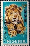 Nigeria 1965 SG 172 Animals Lion and Cubs Fine Used