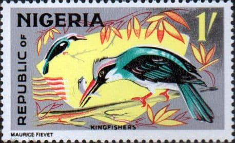 Nigeria 1965 SG 180 Blue Brested Kingfisher Bird Fine Mint