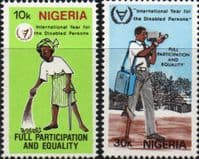 Nigeria 1981 International Year for Disabled Persons Set Fine Mint