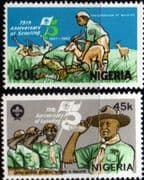 Nigeria 1982 Boy Scout Movement Set Fine Mint