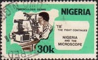 Nigeria 1982 SG 432 Robert Koch's Discovery of Tubercle Bacillus Fine Used