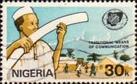 Nigeria 1983 SG 457 World Communications Year Set Fine Used