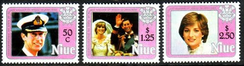 Niue 1982 ROYAL BABY Prince William Miniature Set 2nd issue Fine Mint