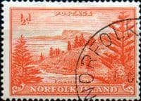 Norfolk Island 1947 Ball Bay SG  1 Fine Used