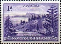 Norfolk Island 1947 Ball Bay SG  2 Fine Mint