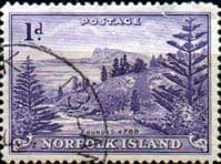 Norfolk Island 1947 Ball Bay SG  2 Fine Used