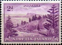 Norfolk Island 1947 Ball Bay SG  4 Fine Mint