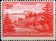 Norfolk Island 1947 Ball Bay SG  5 Fine Mint