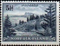 Norfolk Island 1947 Ball Bay SG  8 Fine Mint