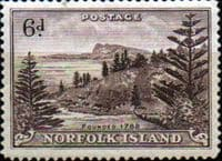 Norfolk Island 1947 Ball Bay SG  9 Fine Mint