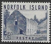 Norfolk Island 1953 Warders Tower SG 15 Fine Mint